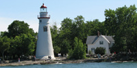 Historic Marblehead Lighthouse in Marblehead, Ohio